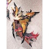 14 Mystical Fairies Of The Forbidden Forest Fantasy Wall Sculpture Red & Yellow