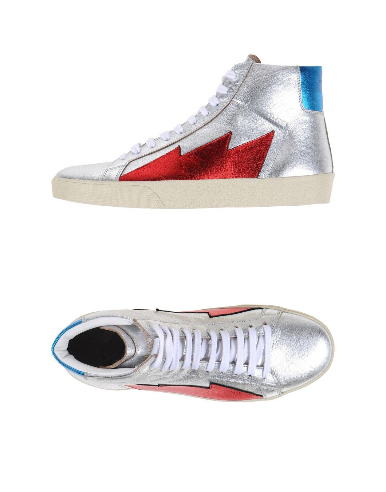 Saint Laurent silberne Sneaker Stars Gr. 37,5 (passt 38 bis 38,5) NEU