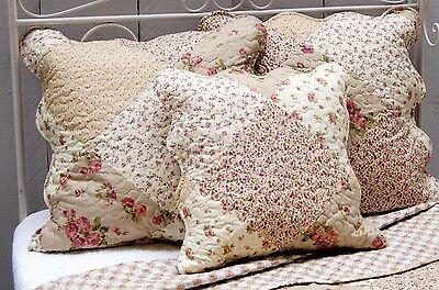 Kissenhüllen  Set * 40 x 40 u. 50 x 50 cm * Green Rose * Quilt *