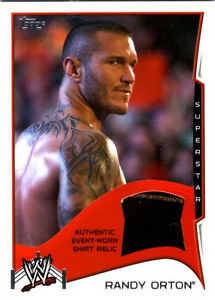 WWE-Randy-Orton-2014-Topps-Event-Used-Shirt-Relic-Card-2-Color