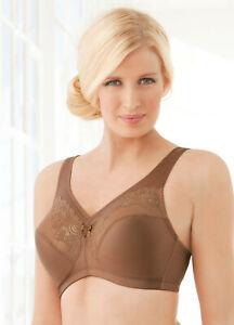 Glamorise-Magic-Lift-MINIMIZER-Bra-36F-Full-Figure-Support-Brown-Lace-NEW-45