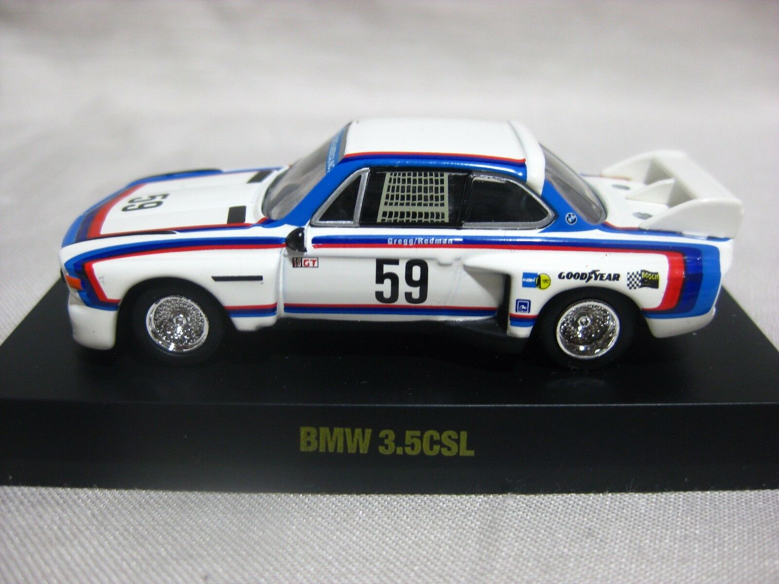 1 64 Kyosho BMW 3.5CSL No.59 Diecast Model Car