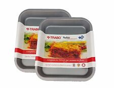 Lasagne Cooking Tray by Trabo Top Chef Teflon Coated 28cm x 23cm (2 Pack)