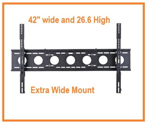 """1153T Extra Wide Tilt Wall mount for 40/"""" to 80/"""" LCD LED Plasma Three Stud"""