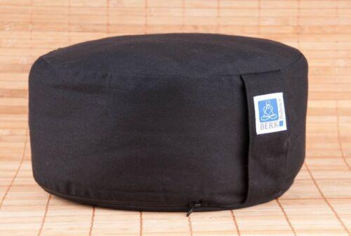 schwarz aus Baumwolle 30cm Durchmes Zen Kissen Meditationskissen 14cm hoch
