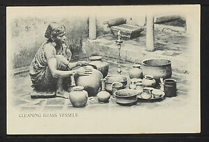 INDIA-392-Cleaning-Vessels-Undivided-Back-c-1901-1907