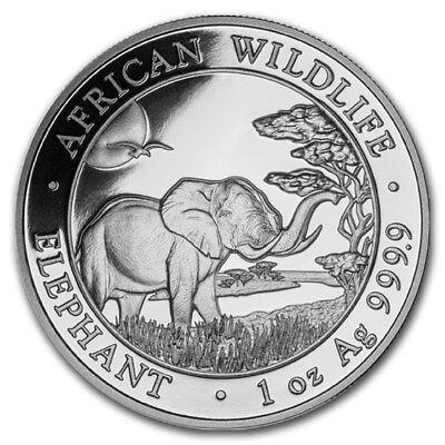 2019 Somalian Elephant 1 oz .9999 Silver BU Bullion Round Limited Coin