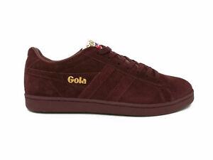 Dettagli su Scarpe Gola Equipe IT CMA495RX Uomo Sneakers Vintage Suede Burgundy moda