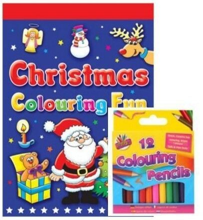 Greeting Cards & Party Supplies Christmas A3 A4 Colouring Book ...