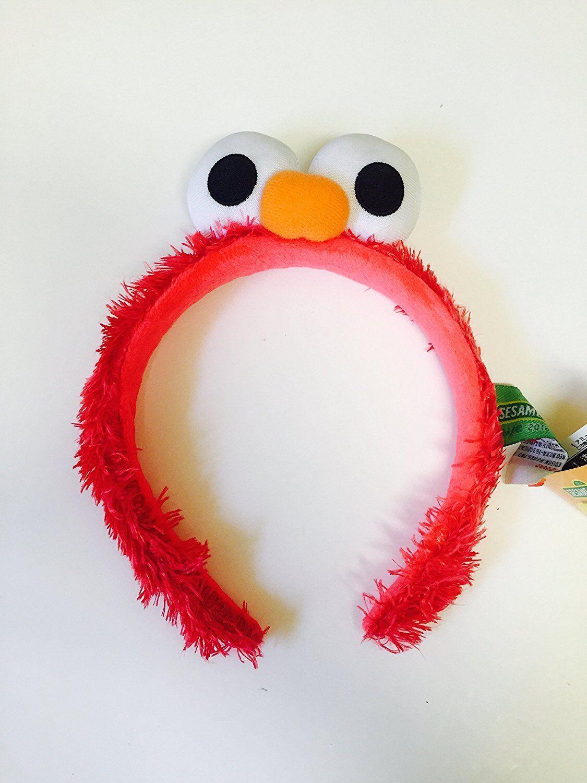 Sesame Street Elmo Red OSFA Halloween Costume Headband Head Band Ears