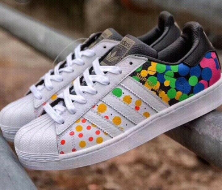 Original Adidas Superstar Pride Pack CM7802 dotted multicolord men's sz US 12