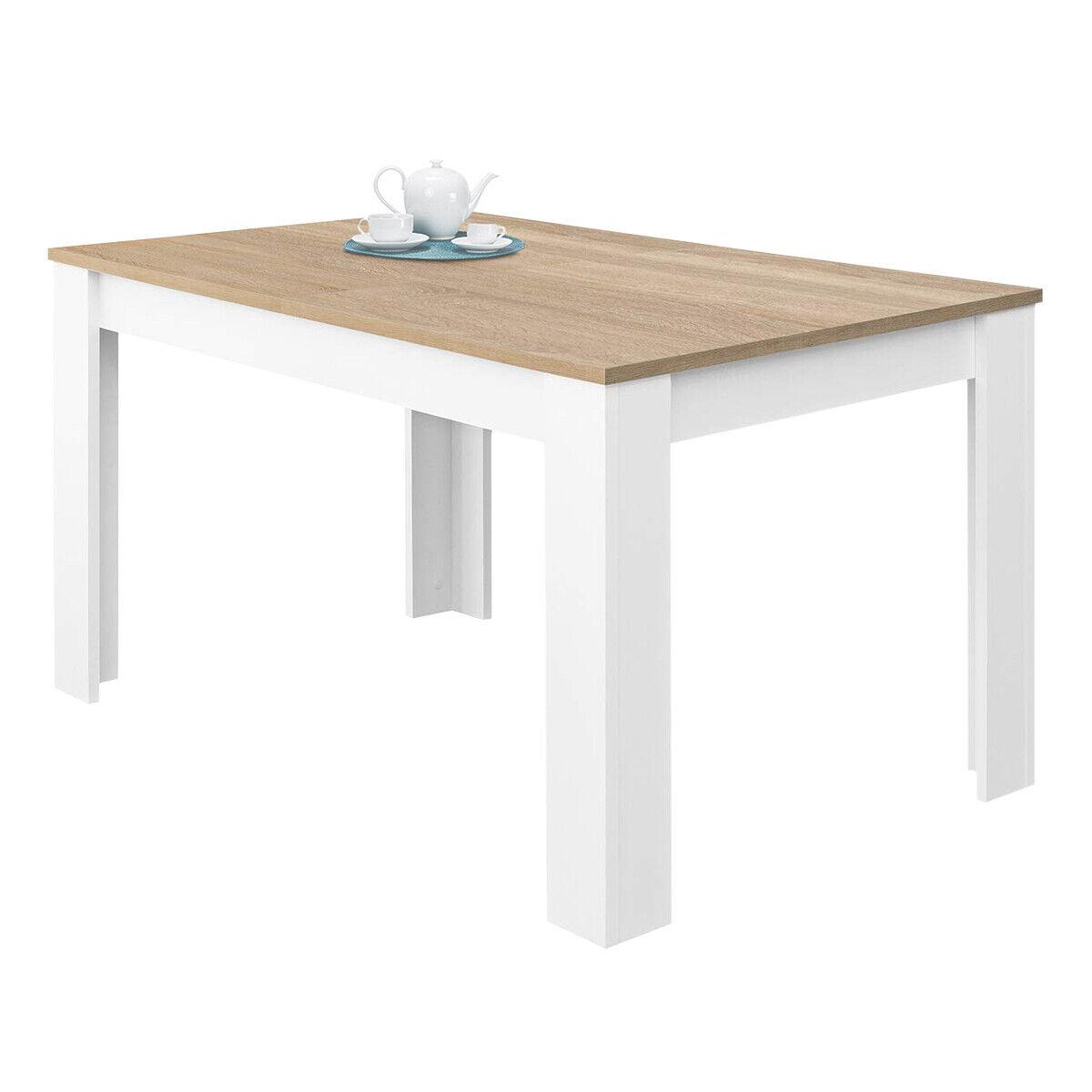 Mesa de comedor salón, extensible mesa de cocina, mueble salon, Blanco y...