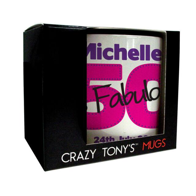 Personalised 50th Birthday Mug Crazy Tonys Gifts Adult