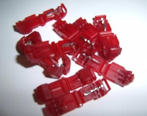 25-3M-951-T-TAP-Quick-Wire-Connectors-Red-22-18-AWG-Gauge-Car-Audio-Terminals