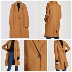 3cbffd71 Image is loading ZARA-NEW-MASCULINE-WOOL-COAT-CAMEL-8293-163