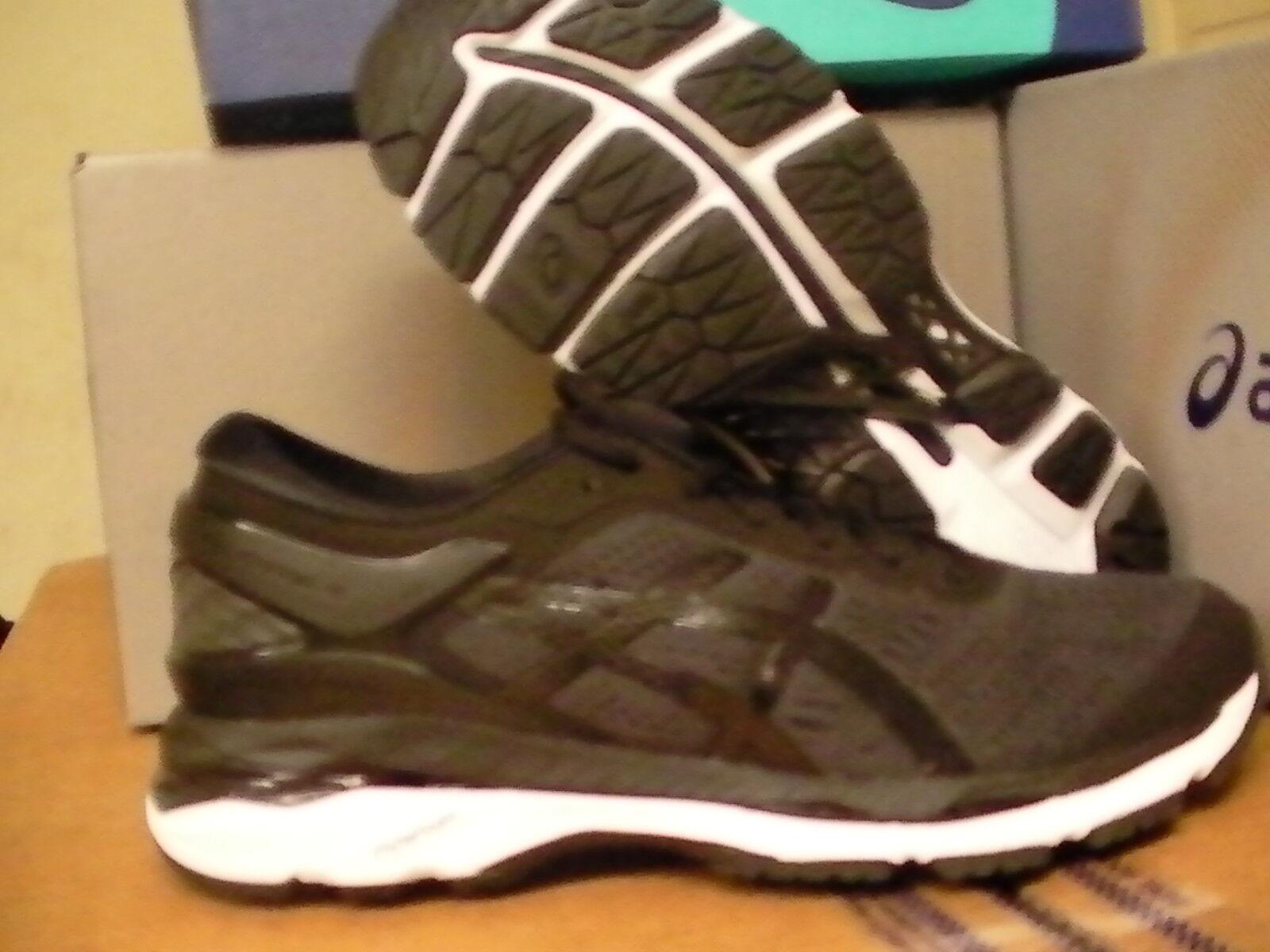 Asics women's gel kayano 24 running shoes black phantom white size 9.5 us
