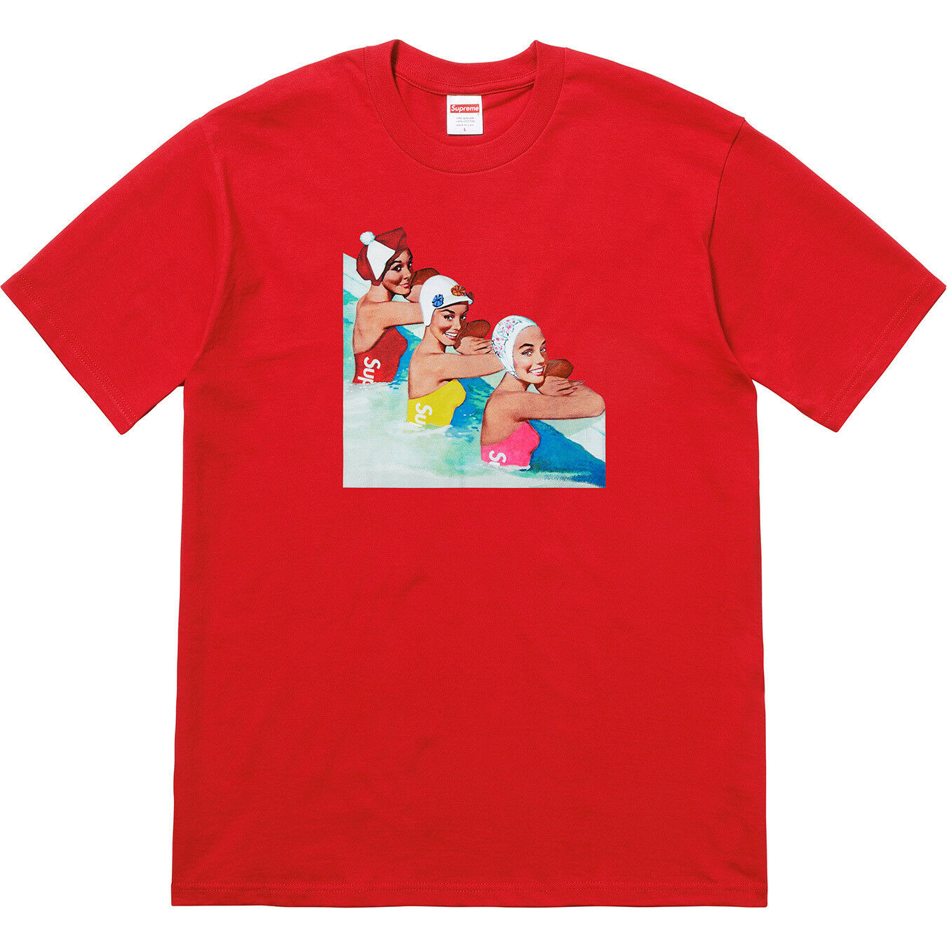 Supreme Swimmers Tee SS18 - ROT - X-Large