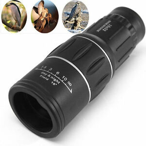 Monocular-16-x-52-Zoom-Lens-Camping-Hiking-Hunting-Telescope-Scope-Outdoor-BR