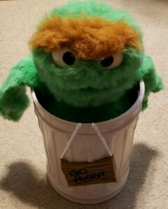 Details About Vintage 1986 Sesame Street Oscar The Grouch Trash Can Toy