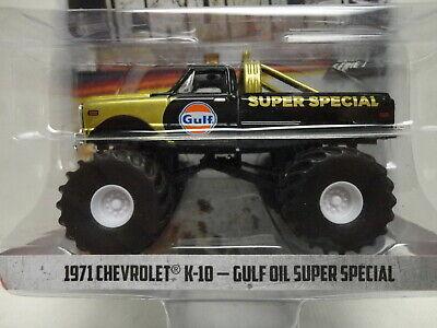 Greenlight 1:64 Kings of Crunch Sr 1 1971 Chevrolet K-10 Gulf Oil Super Special