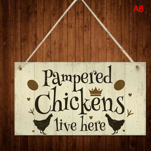 Chicken Plaques Wooden Hanging Signs Chicken Coop Home Wall Decor OutdoorT Tu