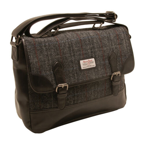 Berneray Harris Tweed Briefcase Messenger Bag The British Bag Company
