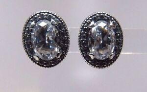 9e82da3a8 Pandora New w/Box Vintage Elegance Stud Earrings, Clear CZ #296247CZ ...