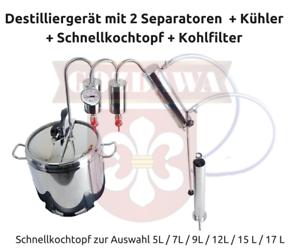 Destille-Destillieranlage-Destilliergerat-Schnellkochtopf-5-7-9-12-15-17L-GRATIS