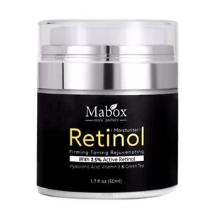 Mabox-50ml-Retinol-2-5-Moisturizer-Face-Cream-Hyaluronic-Acid-AntiAging-Remov-Y3