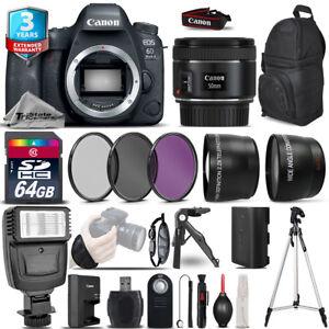 Canon EOS 6D Mark II DSLR Camera + 50mm 1.8 STM  + 3yr Warranty -Ultimate Bundle