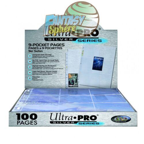 Ultra Pro Boite 100 feuilles de classeur de carte A4 Silver Series 9 cases//page