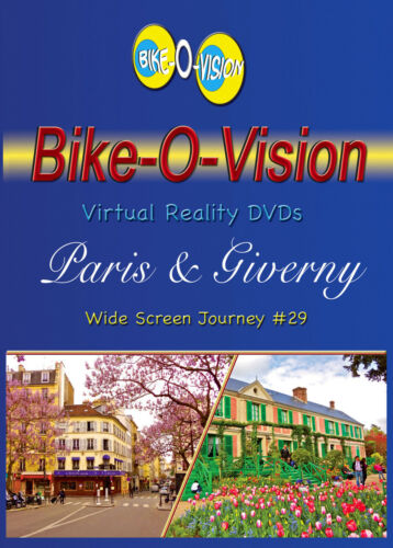 "France/"" BLU-RAY Bike-O-Vision Cycling Video /""Paris /& Giverny"