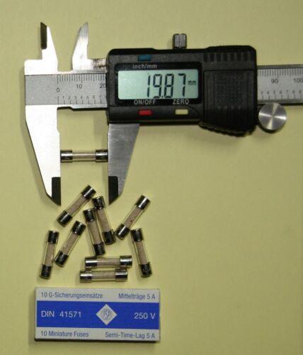 537; 606; 628 Backup sottili 5x20mm 5 a scegliere ritardo stanziamenti Flink le voci di