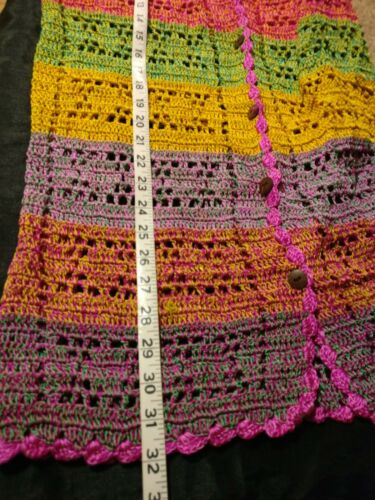 Strip Women's Openwork Fall Color Strik Multi Sz Jacket Hand L Cardigan R1wZqgU