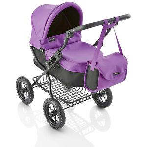Molly Dolly Deluxe Ranger Girls Junior Dolls Toy Pram Buggy & Bag Purple & Black 5060522530176