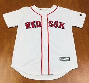outlet store a2e94 84519 Details about Majestic Youth Medium Cool Base Boston Red Sox #28 JD  Martinez Jersey Stitched
