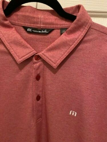 Mens XXXL Travis Mathew pima poly red golf polo sh