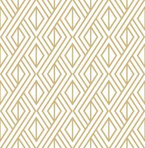 Wallpaper-Retro-Modern-Geometric-Metallic-Gold-Ink-on-White-Background