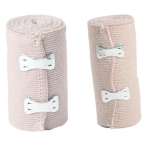 2 Pcs Elastic Bandage Wrap Compression Roll With Fastening Clip Skin Color Ebay