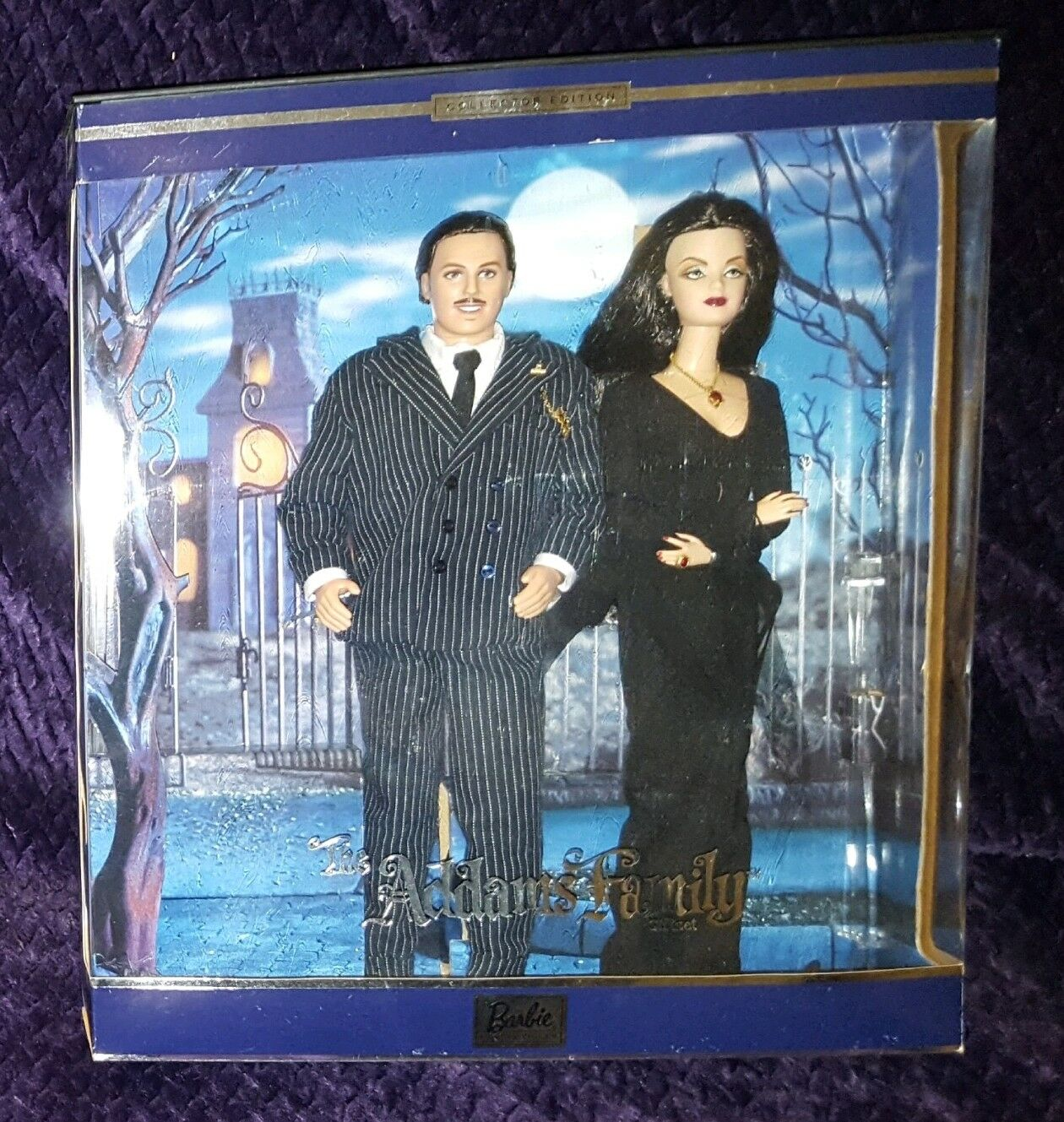 Addam's Family Morticia & Gomez Barbie & Ken Boxed Set NIB