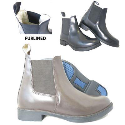 Lava Ghiacciaio Pelliccia Con Equitazione Equestre In Finta Pelle Plain Jodhpur Boot- Moderno Ed Elegante Nella Moda