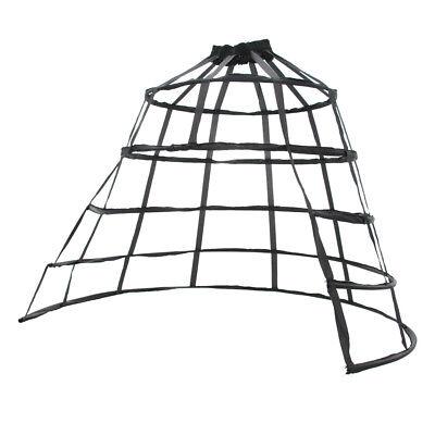 Forking Triangular Crinoline Hoop Bustle Cage Skirt Pannier Petticoat Underskirt