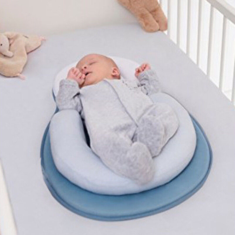 Newborn Infant Baby Pillow Cushion Prevent Flat Head Sleep Nest Pod Anti Roll UK 4