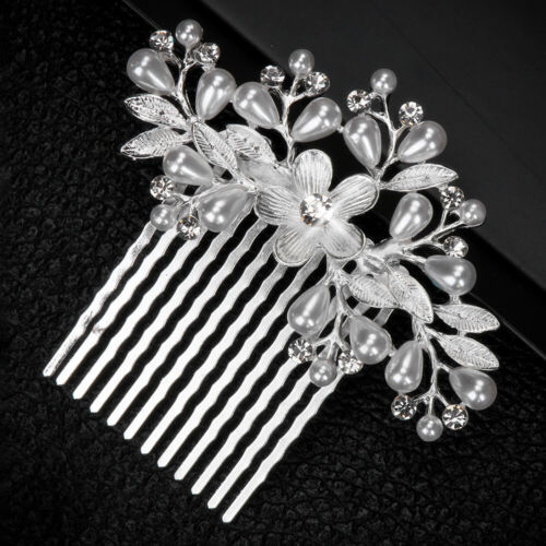 Bridal Hair Combs Bride Headpiece Pearls Rhinestone Wedding Hair Accessories