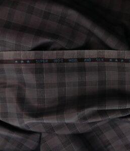 Burgundy Glen Plaid Suit Fabric 180s Wool /& Silk Best for Pants Blazer Suiting