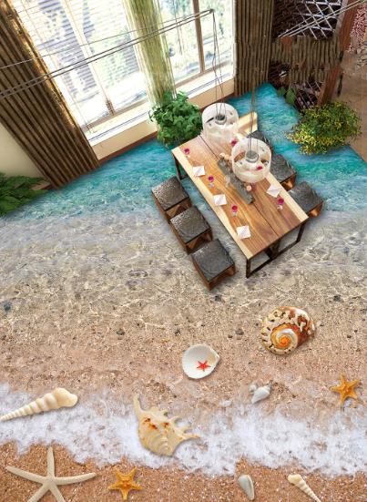 3D Shells Beach Water 79 Floor WallPaper Murals Wall Print Decal AJ WALLPAPER US