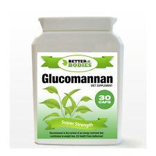 30 Glucomannan Max Konjac Fibre Diet Weight Loss Supplement Pills Bottle
