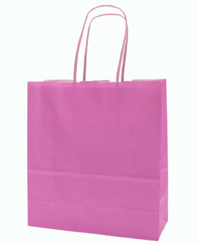 20 x 18 x 8 Size Baby Pink Paper Carrier Bags with Twisted Paper Handles