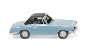 BMW-1600-GT-Cabrio-1967-blu-chiaro-Wiking-018749-scala-H0-1-87-Modellino-Auto