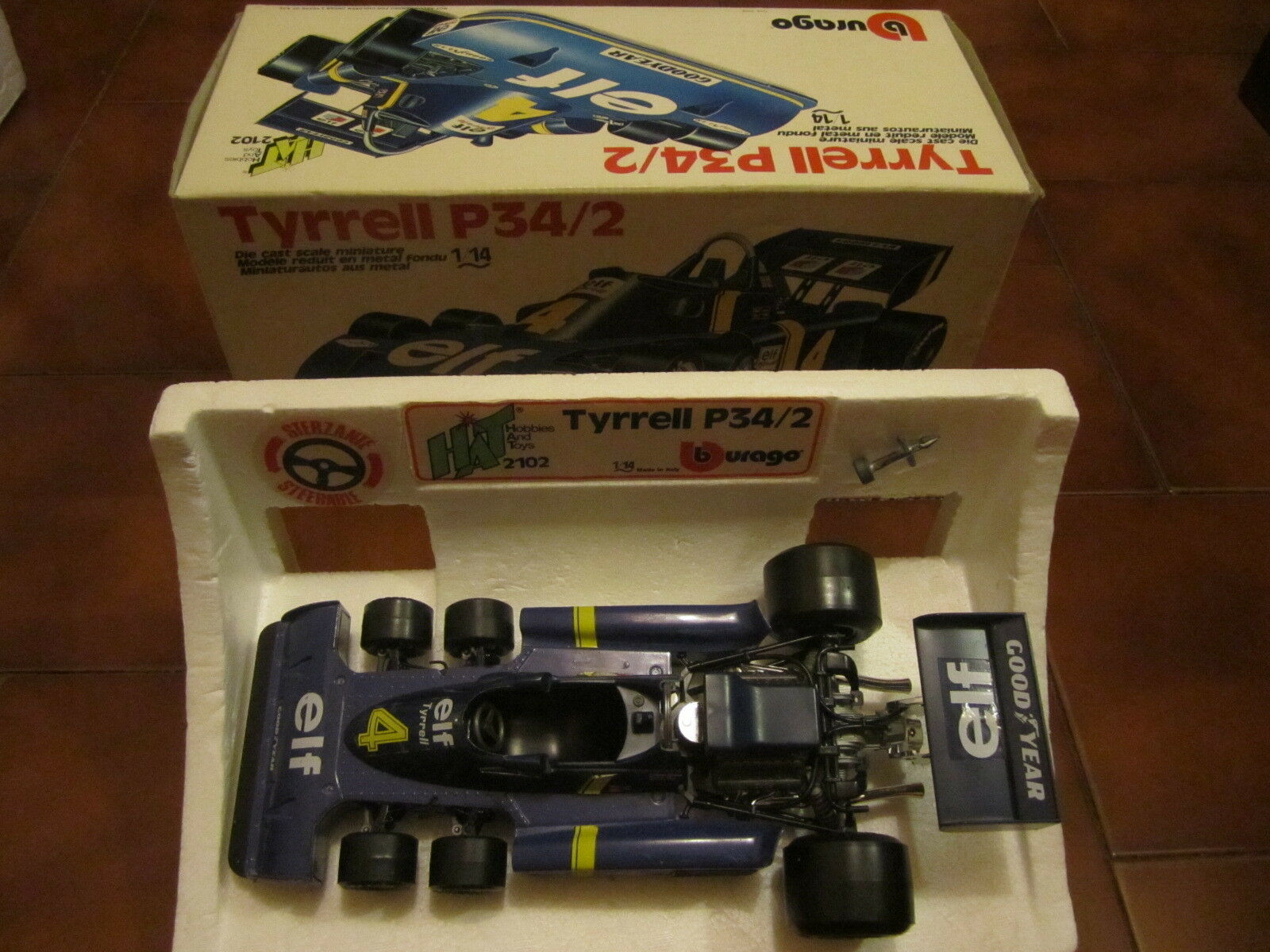Bburago Hat 2102 TYRRELL P34 2 Scala 1 14 Boxed Near MIB